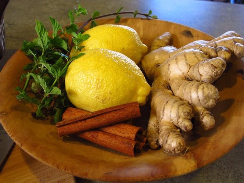 Лимон имбирь корица