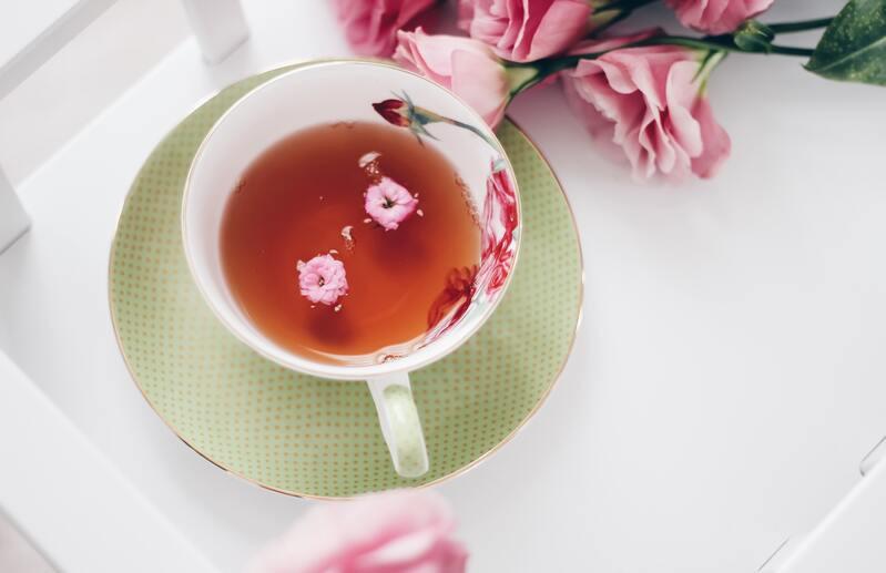 Чашка чая розы