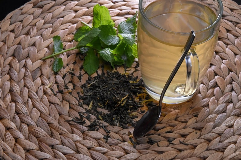 Мята чай ложка