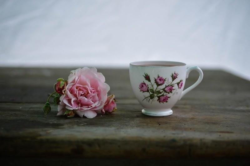 Роза чашка