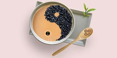 Чай с молоком инь ян