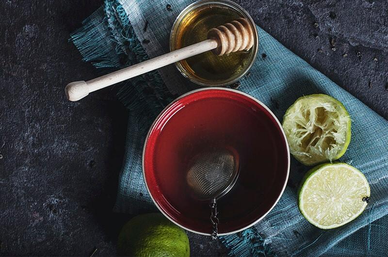 Чашка чая бергамот мед
