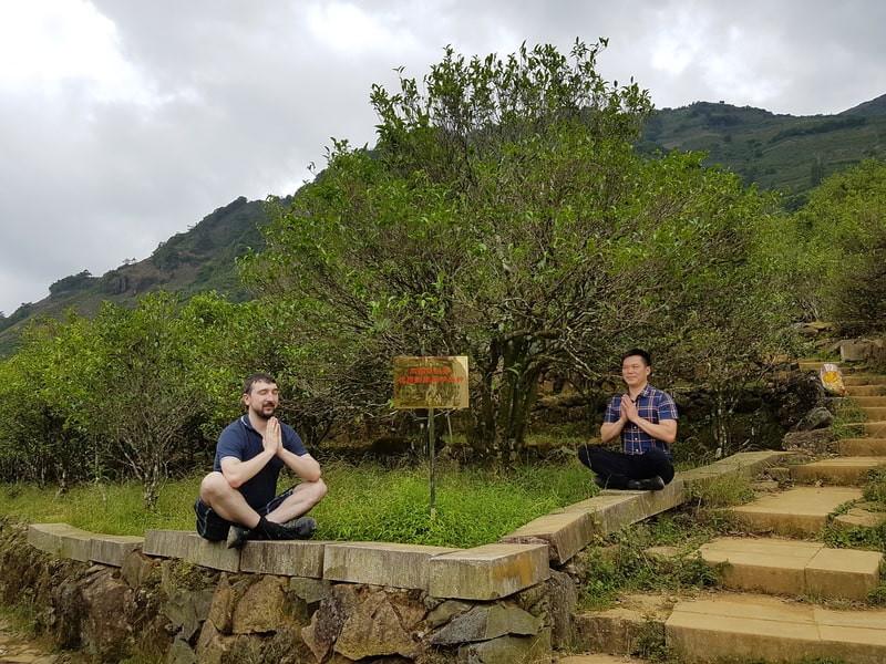 Медитация на склоне горы