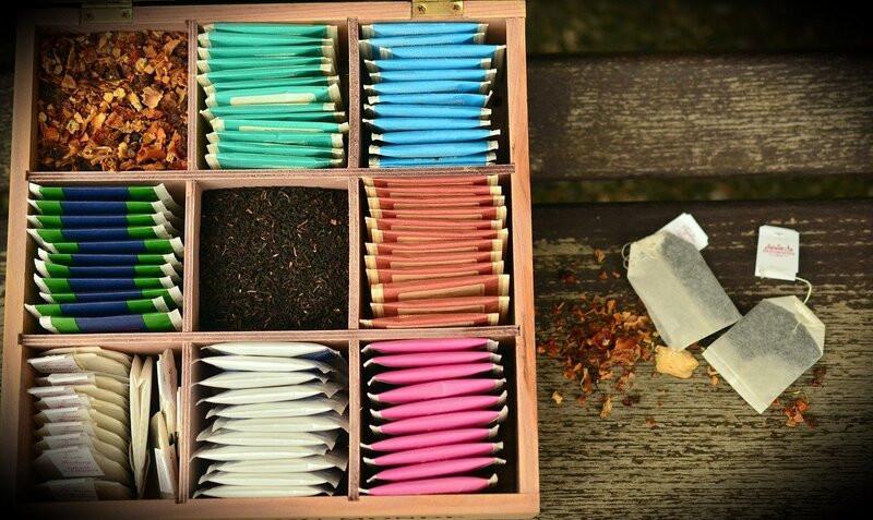 Коробка с пакетированным чаем