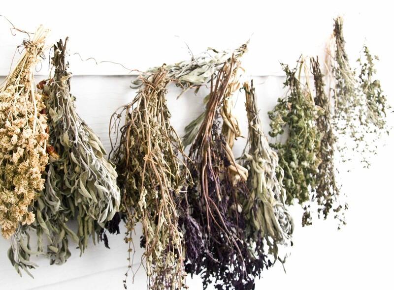 Связки засушенных трав