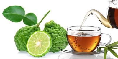 Плоды бергамота чашка чайник чай