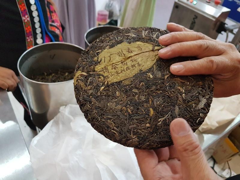 Прессованный чай пуэр