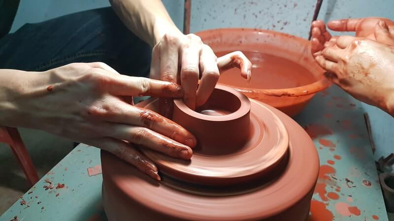 Изготовление чайной посуды из глины
