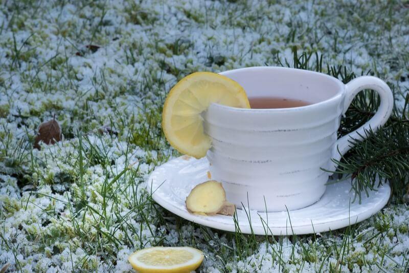 Имбирь лимон чай трава снег