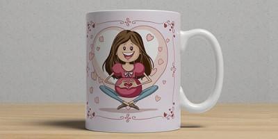Кружка с изображением беременной женщины