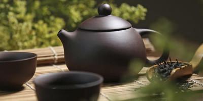 Керамический чайник пиалы чай