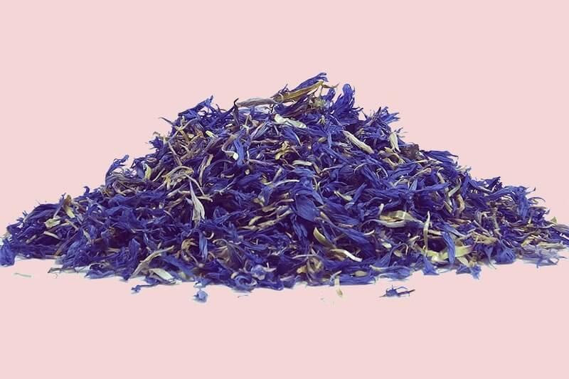 Сушенные синие цветы заварка