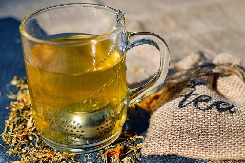 Стеклянная кружка зеленый чай