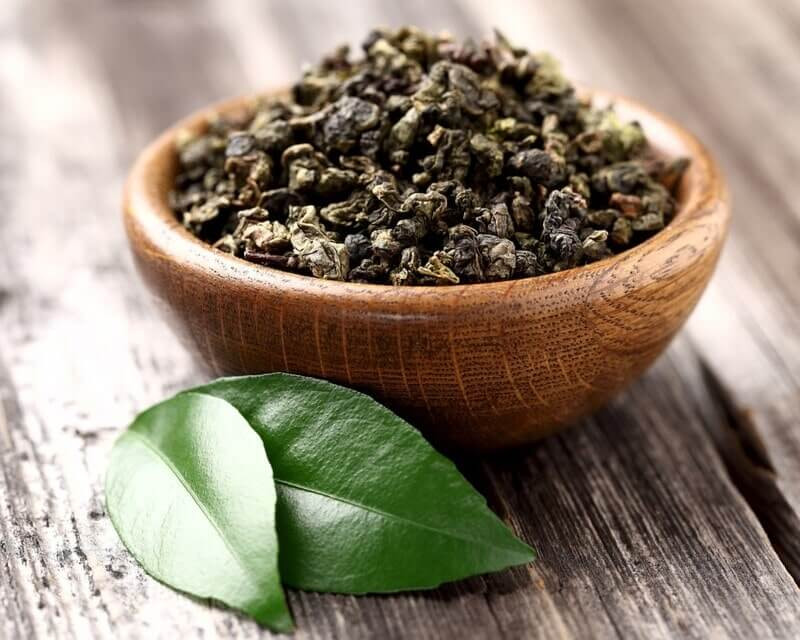 Пиала чайная заварка зеленый лист
