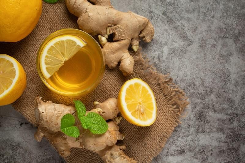 Чай имбирь лимон