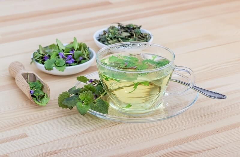 Кружка зеленый чай травы