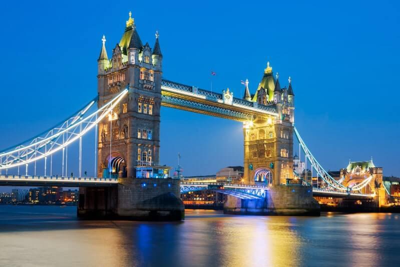 Лондон вечер тауэрский мост