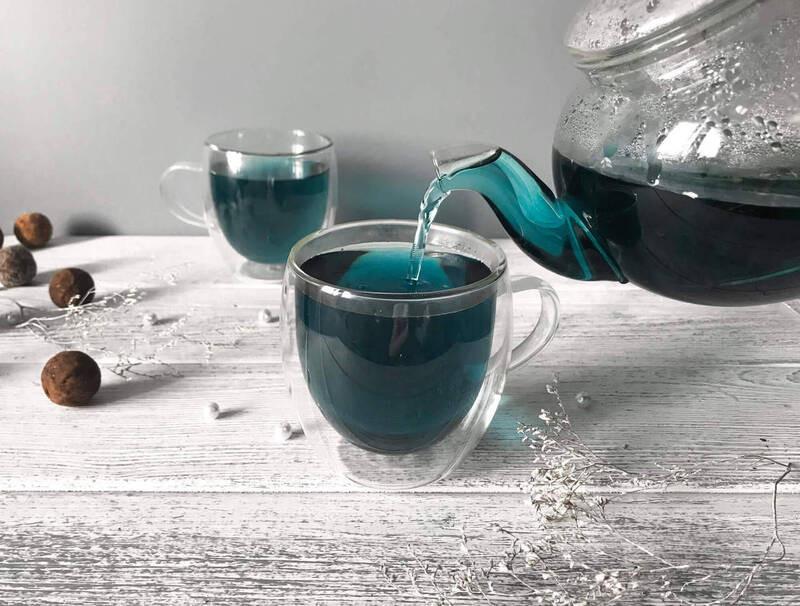 Чайник кружка синий чай