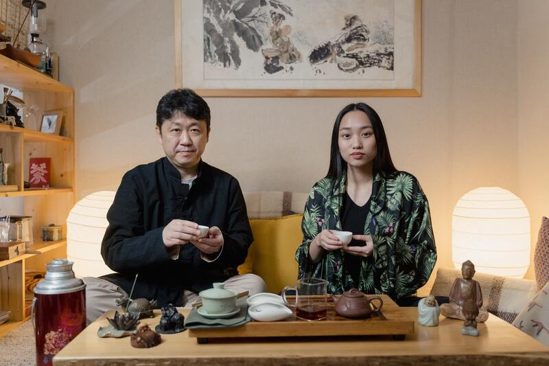 Мужчина женщина чайная церемония