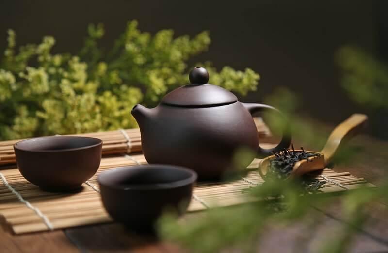 Чайник пиалы зелень
