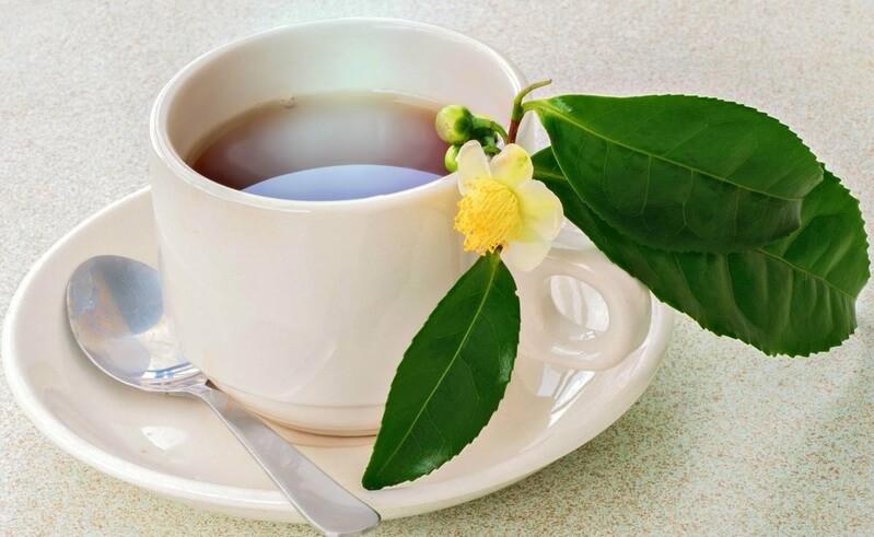 Кружка чая цветок
