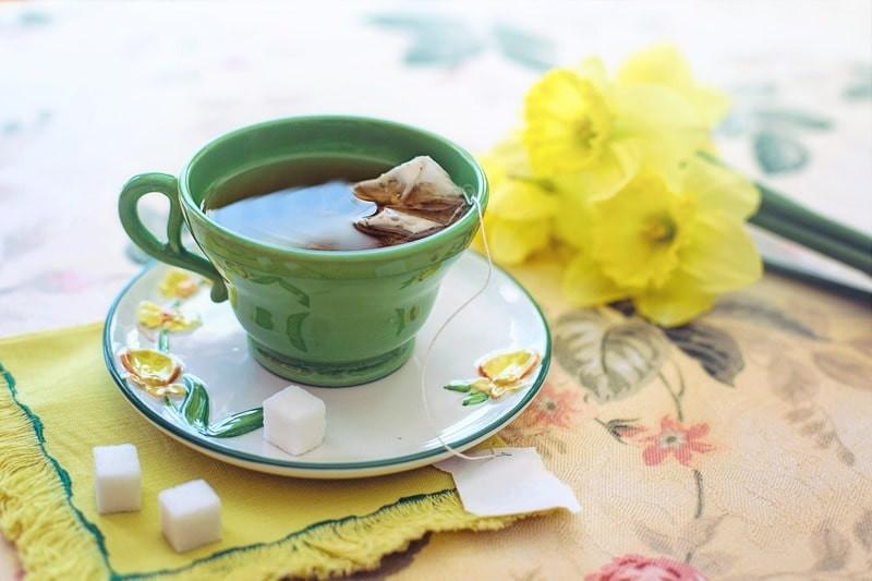 Чашка чая цветы