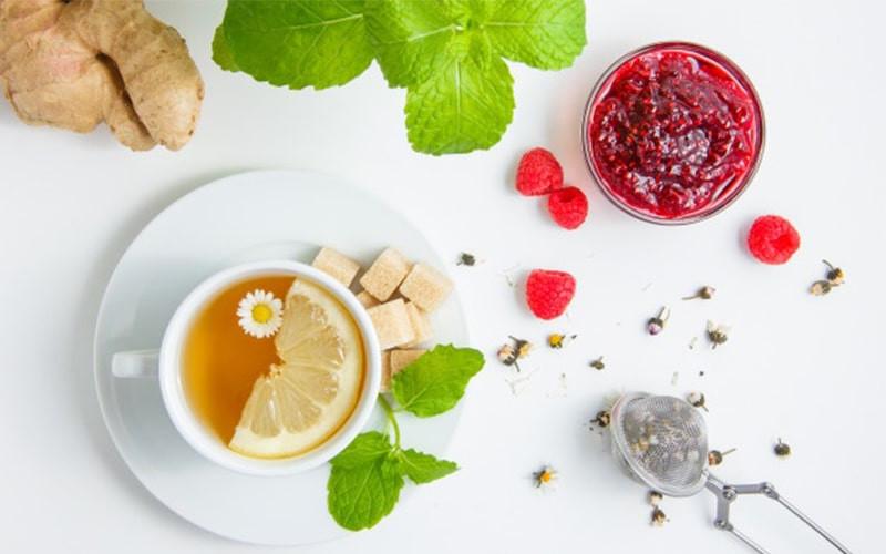 Чай имбирь лимон малина