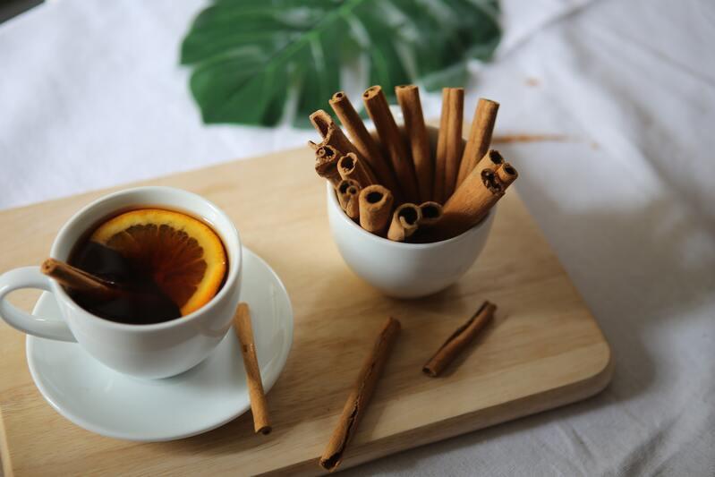 Чай с лимоном печеный трубочки