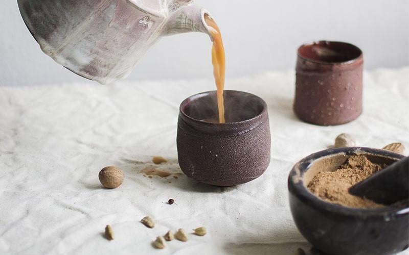 Чайник чашка со специями
